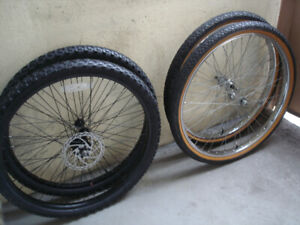 BRAND NEW 26 INCH MTB AND CRUISER WHEELSETS.