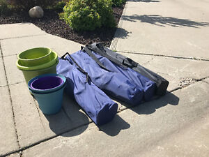 Free camp chairs and plant pots