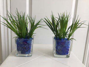 Artificial green plants with Pots,  $7 each