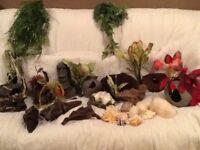 Selection of Aquarium Tank Ornaments/ Artificial plants.