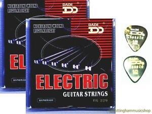 2 SETS ELECTRIC GUITAR STRINGS +2 FREE PICKS NEW CHEAP!