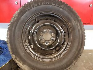 4 snow tires on rims