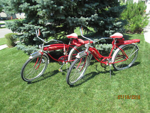 WESTERN FLYER LIMITED EDITIION CIRCA 1950 HIS AND HERS BICYCLE