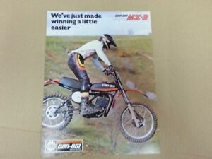 Can Am MX 3 175 250 brochure mint motocross