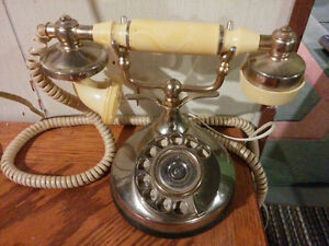 Victorian Brass rotary telephone
