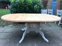 Large 6ft+ Farmhouse solid chunky pine 8 seater dining table