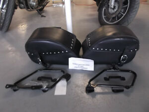 used Honda Leather saddlebags 2004-2017 VT750 Aero