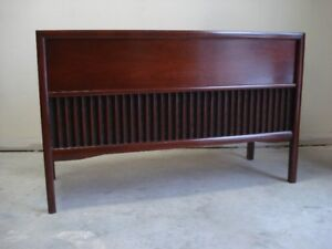Mid Century Record Player Console Stereo 1960's MCM Teak
