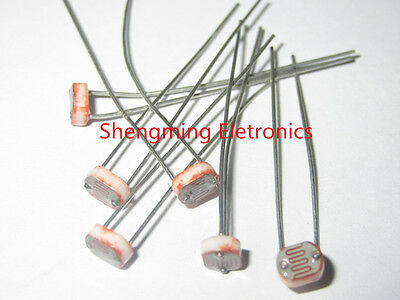 20pcs Photo Light Sensitive Resistor Photoresistor Optoresistor 5mm Gl5506 5506