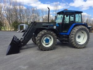 Ford 8240 100hp 4x4 loader Quick et cabine