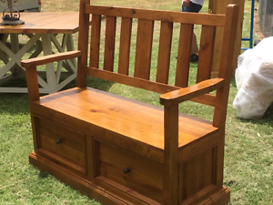 Timber bench/storage box Catherine Field Camden Area Preview