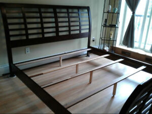 King Size Bed Frame, Box Springs and Beauty Rest Mattress