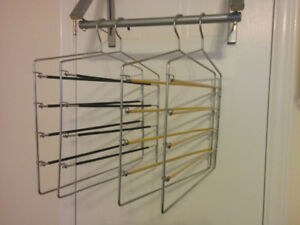 10 Chrome, Multiple Skirt and Pant Hangers - all 10 for $50!