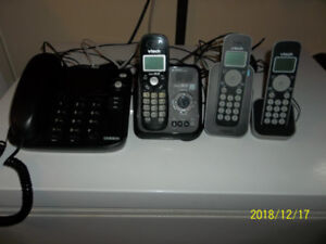 for sale   Desk phone and cordless phones