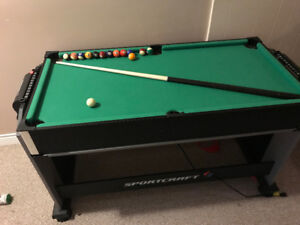 Electric Mini Pool and Air Hockey Table