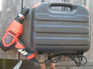 FOR SALE: BLACK&DECKER REVERSIBLE CORDED DRILL-UNUSED