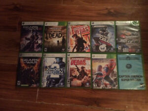 Xbox 360 games 150$ for all or 10$ each