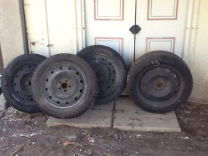 Used hankook 16 inch winter tires and rims