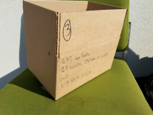 Corrugated cardboard boxes - brand new