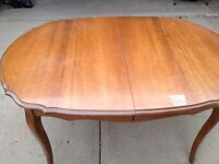 Solid Wood Antique Dining Room Table and Chairs