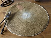 4 brand new woven placemats