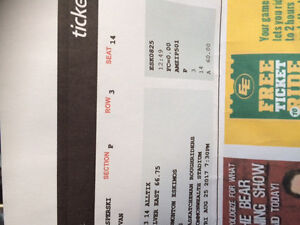 1 ticket to Friday's Eskimos game vs Roughriders- great seat!