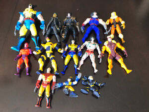 SOME MARVEL X-MEN WOLVERINE CYCLOPS SABRETOOTH ACTION FIGURES