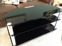 Black Glass 3 Shelve TV stand