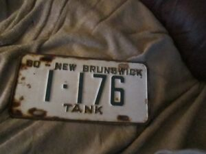 1960  lic plate  for Army  Tank
