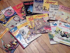 16 BDs assorties (Lucky Luke, Robin Dubois, Pierre Tombal, etc.)