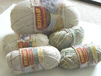 Bernat Handicrafter Cotton Yarn 1 large 4 small New Off White