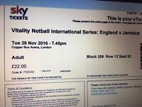 England V Jamaica Netball