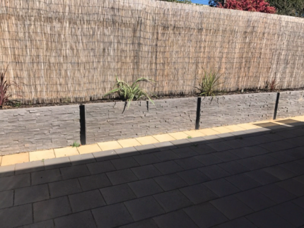 Retaining wall sleeper off cuts, Pavers & Fence Plinths