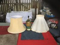 Two large lampshades.