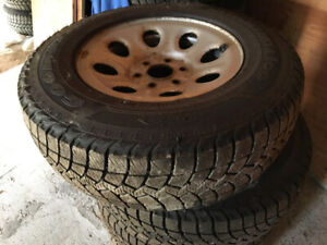 FS: 4x LT245/75/R17 Goodyear winter tires on Chevy rims w/TPMS