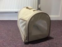 FABRIC CANVAS CARRIER CAT SMALL DOG PET RABBIT PUPPY TRAVEL CAGE CRATE TOTE