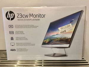 """HP Pavilion 23cw IPS LED Backlit Computer Monitor 23"""" NEW IN BOX"""