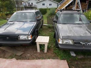 1994 Subaru LOYALE Wagon  with identical parts car.