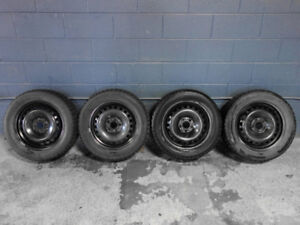 "FORD Fusion Wheels & Snow Tires, 215/55/16"", Lots of Tread Left!"