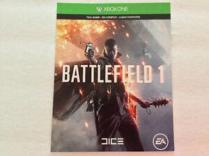Xbox One Battlefield 1 complet en code - 45$