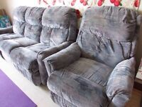 3-seater AND single couch w/ LEG REST