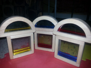 Wood and colour water blocks