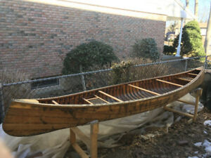 1973 Tremblay Cedar Canvas Canoe