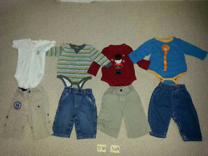 Boy's Size 0-3M, 3-6M, 6-9M, 6-12M,12M, and 12-18M Clothing!