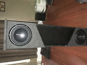 "Subwoofer box with 10"" subs"