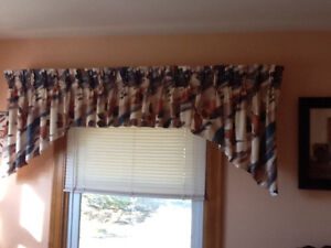 Two pleated Valances