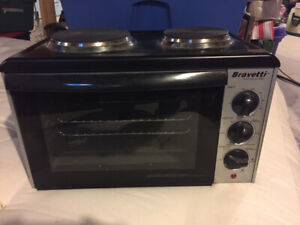 Bravetti Convection Oven With Double Burners