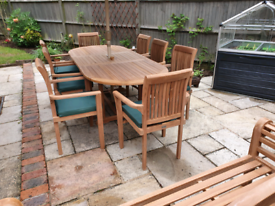 Solid teak garden furniture FURTHER REDUCED TO £995£