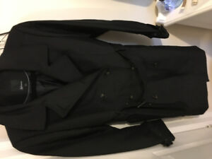 Black trench coat size M