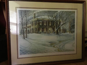 "1986 Trisha Romance Winter Twilight 32x27"" framed by Alcove Sarnia Sarnia Area image 2"